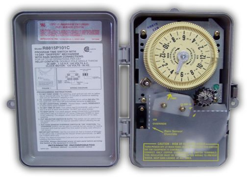 Intermatic Irrigation Timer 120 Volt For Rain Sensor R8815p101c on