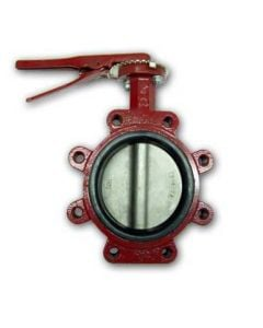 CAST IRON LUG BUTTERFLY VALVE 6""