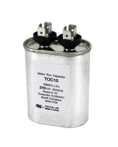 Capacitors 10 Mfd Oval Run 370 Volts 50/60 Hz #poc10