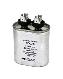 Capacitors 7.5 Mfd Oval Run 370 Volts 50/60 Hz #poc75