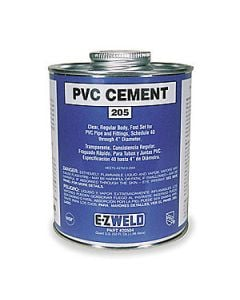Pvc Cement Clear P4 1/2 Pt. (8 Oz)