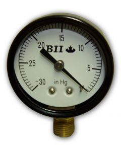 """PRESSURE GAUGE DRY 2"""" DIAL FACE ECONO VACCUM 1/4"""" MPT"""