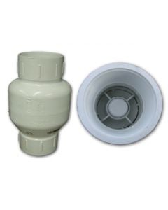 Spring Pvc Threaded Check Valve 1/2""