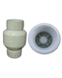 SPRING PVC THREADED CHECK VALVE 2""