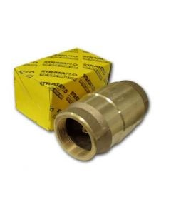 "STRATAFLO SPRING CHECK VALVE 1"" BRASS THREADED"
