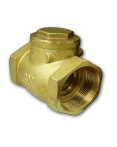"SWING CHECK VALVE 1/2"" BRASS THREADED"