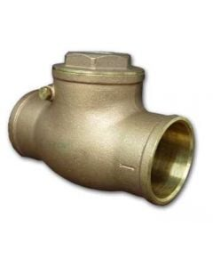 "Swing Check Valve 1"" Slip Brass Sweat"