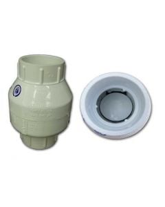 SWING PVC SLIP CHECK VALVE 11/4""