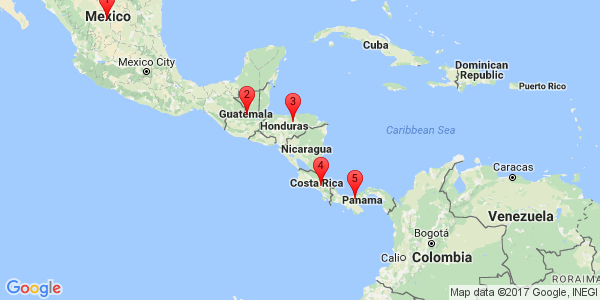 Google Map of South America